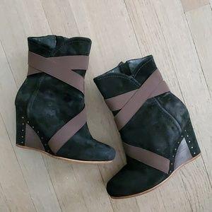 Ugg leather/ sheepskin wedges